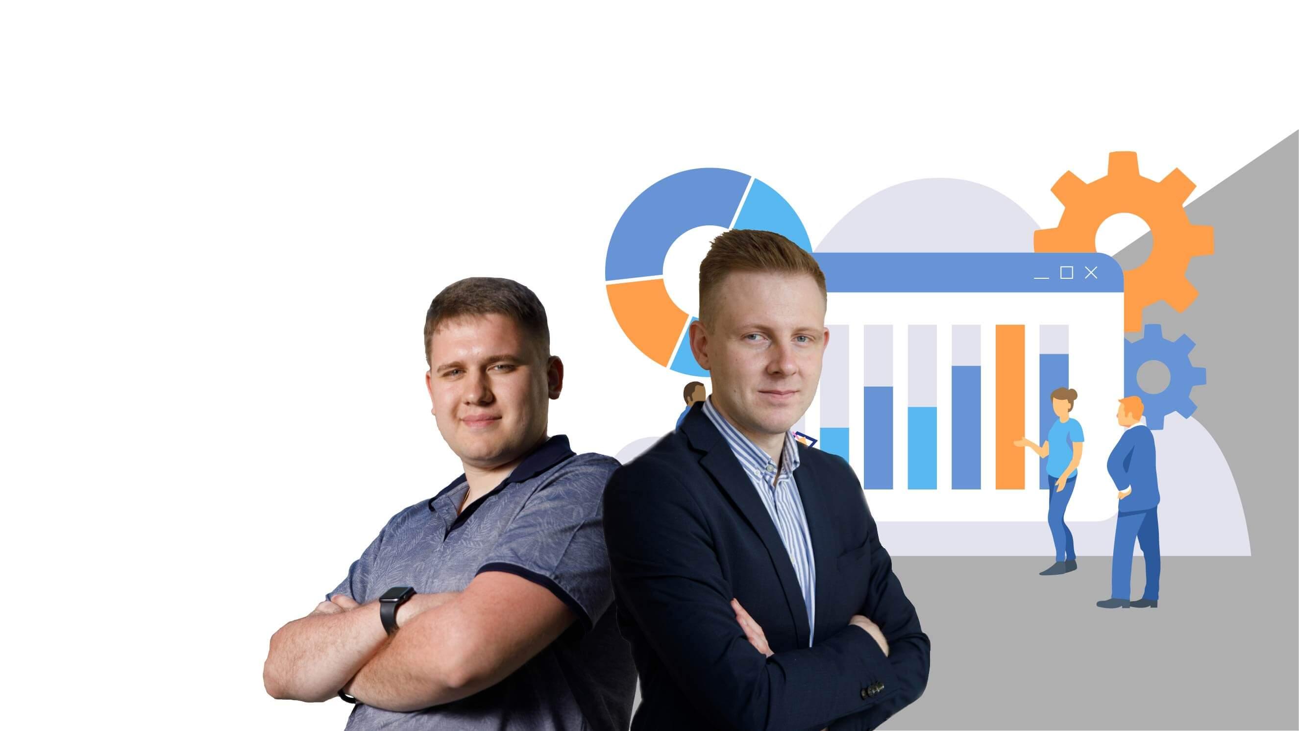 Кураторы Роман Щеглов и Георгий Степченко